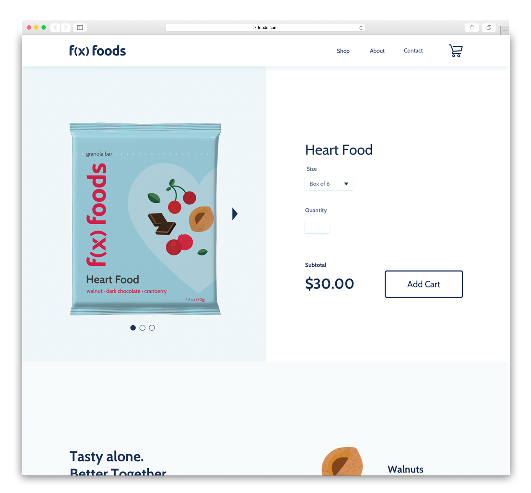 f(x)foods_Web_Mockups_ProductPage